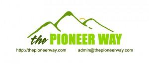 Pioneer Way mini card design, printed at moo.com