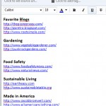 Save your favorite web site links in Evernote