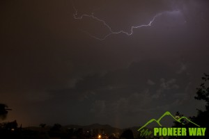 My first time photographing lightning as an isolated thunderstorm rolled though Southern California in August of 2012